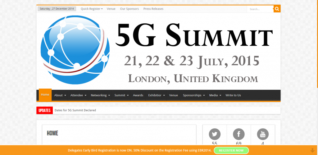 5G Summit 2015, London, UK