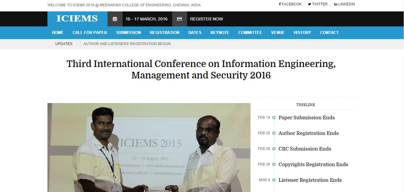 ICIEMS 2015