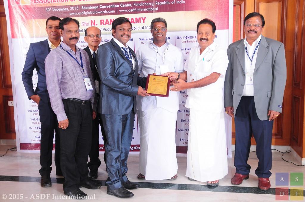 A S N Chakaravarthy @ award 2015