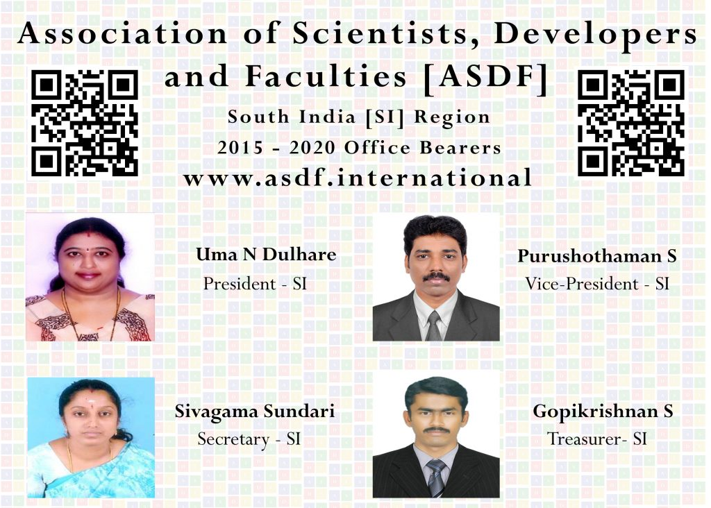 South India ASDF Office Beareras 2015-20