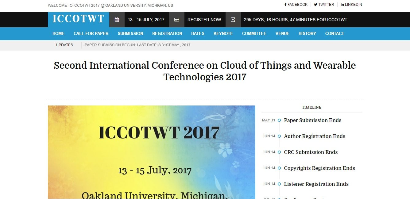 ICCOTWT 2017