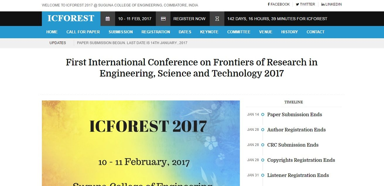 ICFOREST 2017