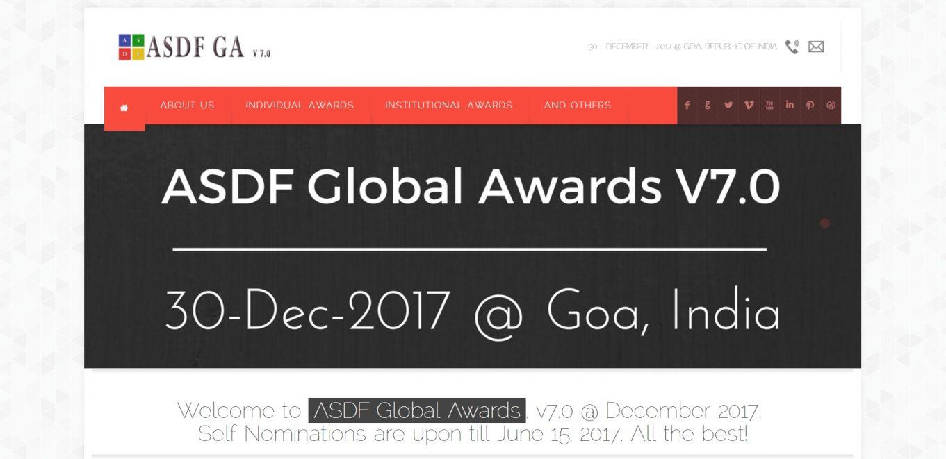 ASDF Global Awards 2017