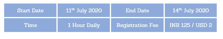 entrepreneurship dates july 2020